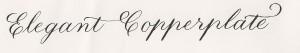elegant copperplate
