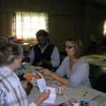 Eugenia Uhl demonstrates book making